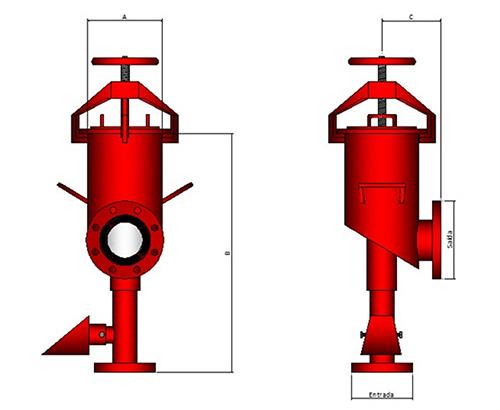 Image das características da Câmara de espuma Modelo TC