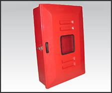 Foto do produto Abrigo para mangueira de incêndio, em fibra