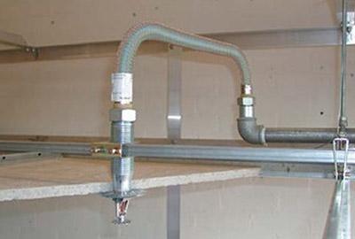 Image de um grafico demonstrativo sobre Distribuição de água para tubo flexível para sprinkler