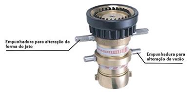 Image do seletor de vazão do Esguicho água-espuma Vazão de 500, 750, 1000 e 1250 gpm